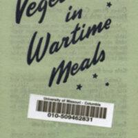 Green vegetables in wartime meals.
