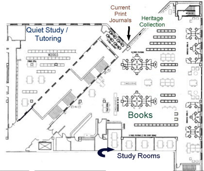 Engineering Library floor plan